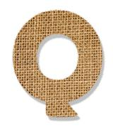 """The letter """"q"""" is made of coarse cloth. Stock Photos"""