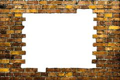 Brick frame with white background Stock Photos