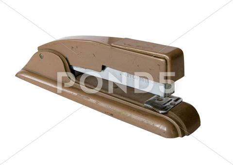 Stock photo of old stapler