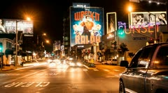 Time Lapse of Traffic on the Sunset Strip - Los Angeles California Stock Footage