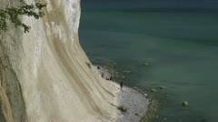 The Famous White Chalk Cliffs on Rügen Island - Baltic Sea, Northern Germany. Stock Footage