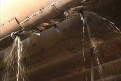 Water leak Stock Footage