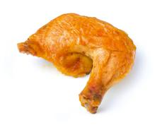 Chicken leg isolated on white with clipping path. see in path palett Stock Photos