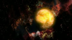 Gas Planet on space Stock Footage