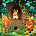 Stock Illustration of animals in the wood. .. .