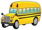 Funny school bus. Stock Illustration