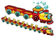Stock Illustration of funny train.