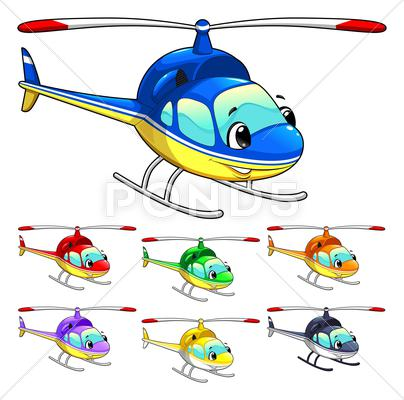 Stock Illustration of funny helicopter.