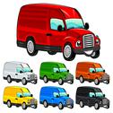 Funny van. Stock Illustration