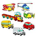 Stock Illustration of funny vehicles.