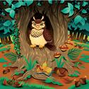 Scene with owl. Stock Illustration