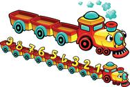Funny train. Stock Illustration