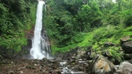 Waterfall in tropical jungles Stock Footage