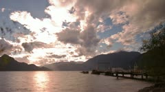 2 Shots of Time Lapse Cloudy and Sunny day at the Dock in Porteau Cove Stock Footage