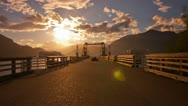 The Dock of Porteau Cove, BC, Canada. Shot on a Cloudy and Sunny Afternoon Stock Footage