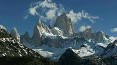 Incredible time lapse of Mount Fitzroy in Argentina Stock Footage