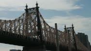 Timelapse NYC Queensboro Bridge Stock Footage