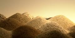 sand piles in warm ambiance - stock photo