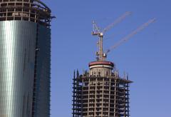 Rakentaminen pilvenpiirtäjä rakennus Kuvituskuvat