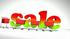 Sale cart concept animation, online, shopping. Stock Footage