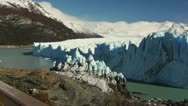 Stock Video Footage of Pan Across Perito Moreno Glacier in Argentina