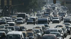 Heavy City Traffic 1 - stock footage