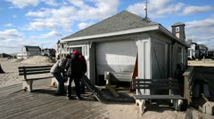 Volunteers Clean Up Hurricane Sandy Aftermath Stock Footage