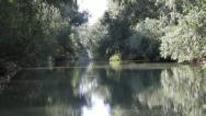 Creepy trip in water channel from Danube Delta Stock Footage