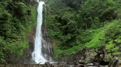 Waterfall in tropical jungles - stock footage