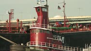 Tug Boat Close Up Stock Footage