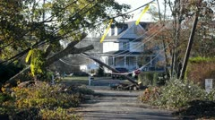 The Aftermath of Hurricane Sandy - stock footage