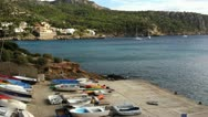 Boats on the coast of Mallorca Stock Footage