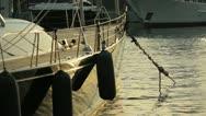 Luxury sailboat at dusk Stock Footage