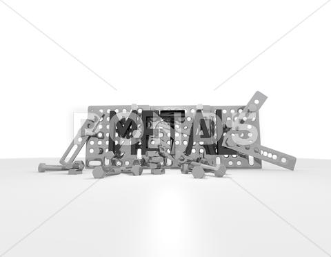 Stock Illustration of black  metal   plan construction kit ''