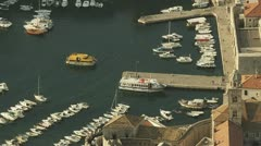 Dubrovnik old town harbor Stock Footage