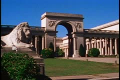 San Francisco, 1970's, Palace of the Legion of Honor, museum, no people Stock Footage