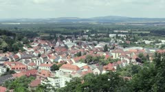 European town seen from above Stock Footage