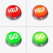 red and green alert buttons - stock illustration