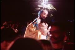 San Francisco, 1970's, Chinese New Year, night parade, fat Buddha figure Stock Footage