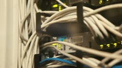 Server cables and IT specialists - stock footage