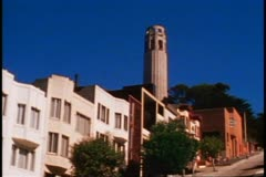 San Francisco, 1970's, montage, Coit Tower, Palace of Fine Arts Stock Footage