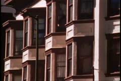 San Francisco, 1970's, montage, bay windows, modern skyscraper, Transamerica Stock Footage