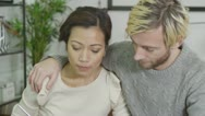 Stock Video Footage of Married couple are concerned about their finances