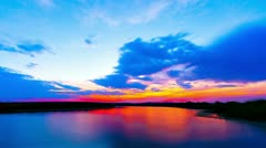 Sunrise at the lake Stock Footage