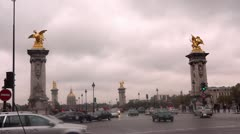Alexander bridge Paris Stock Footage