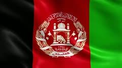 Afghanistan Flag Seamless Loop - stock footage