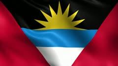 Antigua and Barbuda Flag Seamless Loop Stock Footage