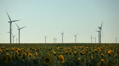 Clean and Renewable Energy, Wind Power Turbines, Windmills, Energy Production - stock footage