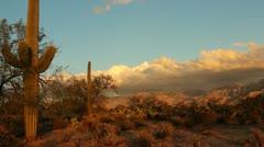 Arizona Desert Sunset Time Lapse Stock Footage