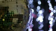 Disco ball light effect Stock Footage